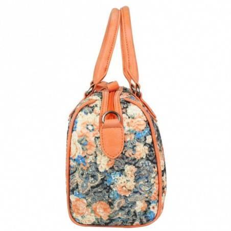 Sac bowling Patrick Blanc motif floral et brillant 510047 PATRICK BLANC - 3