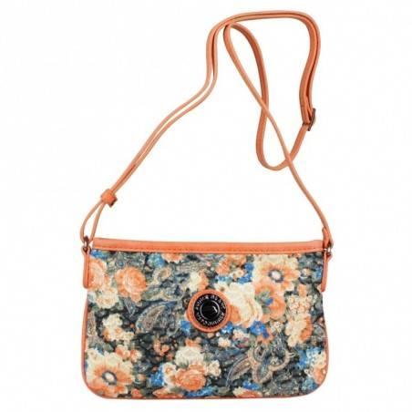 Mini sac pochette plat Patrick Blanc motif floral et effet or PATRICK BLANC - 1