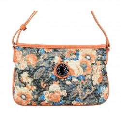 Mini sac pochette plat Patrick Blanc motif floral et effet or PATRICK BLANC - 4