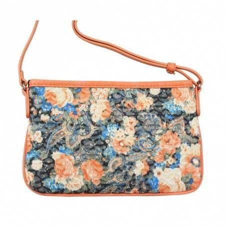 Mini sac pochette plat Patrick Blanc motif floral et effet or PATRICK BLANC - 3
