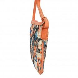 Mini sac pochette plat Patrick Blanc motif floral et effet or PATRICK BLANC - 2