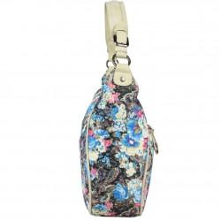 Sac Patrick Blanc demi lune motif floral brillant 510045 PATRICK BLANC - 2