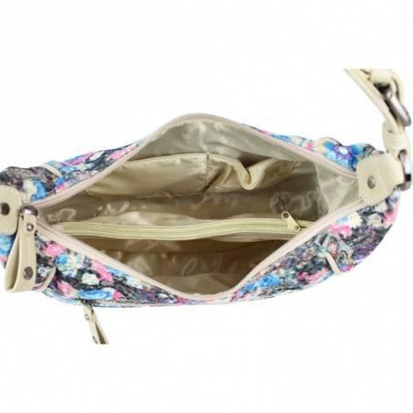 Sac Patrick Blanc demi lune motif floral brillant 510045 PATRICK BLANC - 3