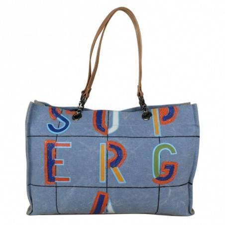 Grand sac cabas Superga toile motif effet peinture 20405 SUPERGA - 1