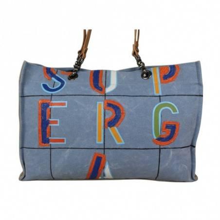 Grand sac cabas Superga toile motif effet peinture 20405 SUPERGA - 5