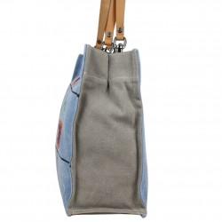 Grand sac cabas Superga toile motif effet peinture 20405 SUPERGA - 2