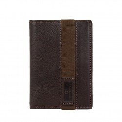 Petit portefeuille monnaie billets cartes en cuir David William avec bloquage signaux RFID D5340 DAVID WILLIAM - 1