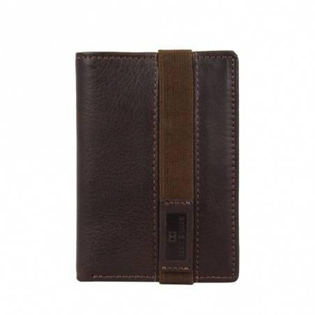 Petit porte cartes fermé élastique cuir David William D5351 DAVID WILLIAM - 1