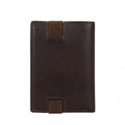 Petit portefeuille monnaie billets cartes en cuir David William avec bloquage signaux RFID D5340 DAVID WILLIAM - 4