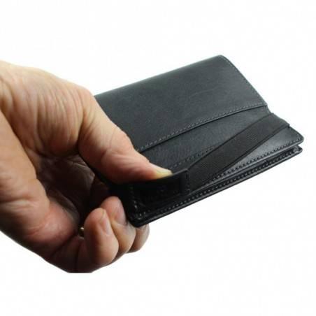 Petit portefeuille monnaie billets cartes en cuir David William avec bloquage signaux RFID D5340 DAVID WILLIAM - 9