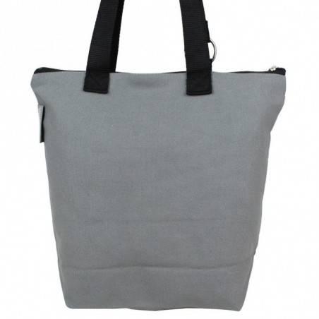 Sac tote bag bohème design floral motif dentelle gris 0003 A DÉCOUVRIR ! - 3