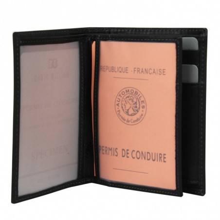 Petit portefeuille et monnaie en cuir David William D5344 rainures striés DAVID WILLIAM - 3