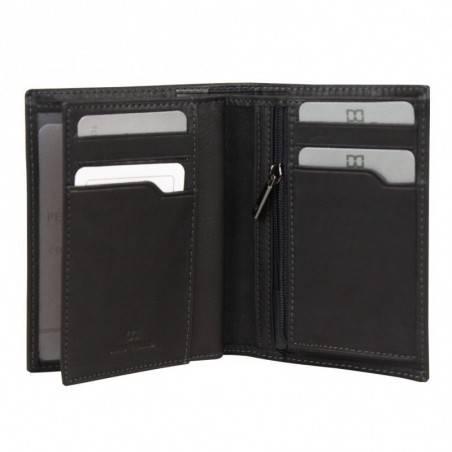 Petit portefeuille monnaie billets cartes en cuir David William avec bloquage signaux RFID D5340 DAVID WILLIAM - 2