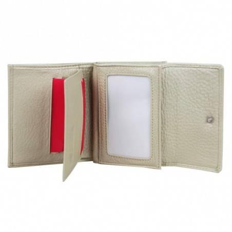 Porte monnaie femme cuir saffiano bi colore Fuchsia F9572-1 FUCHSIA - 3