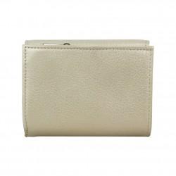 Porte monnaie femme cuir saffiano bi colore Fuchsia F9572-1 FUCHSIA - 4