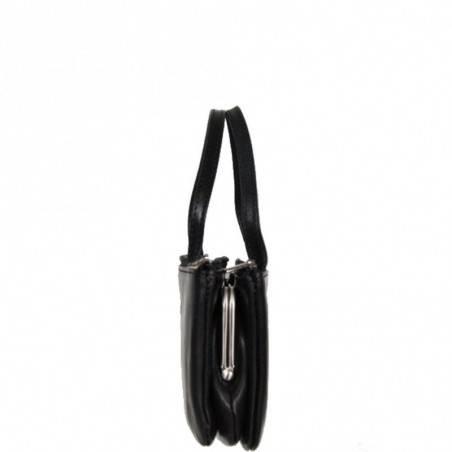 Porte monnaie mini sac cuir fermoir vintage Tony Perotti