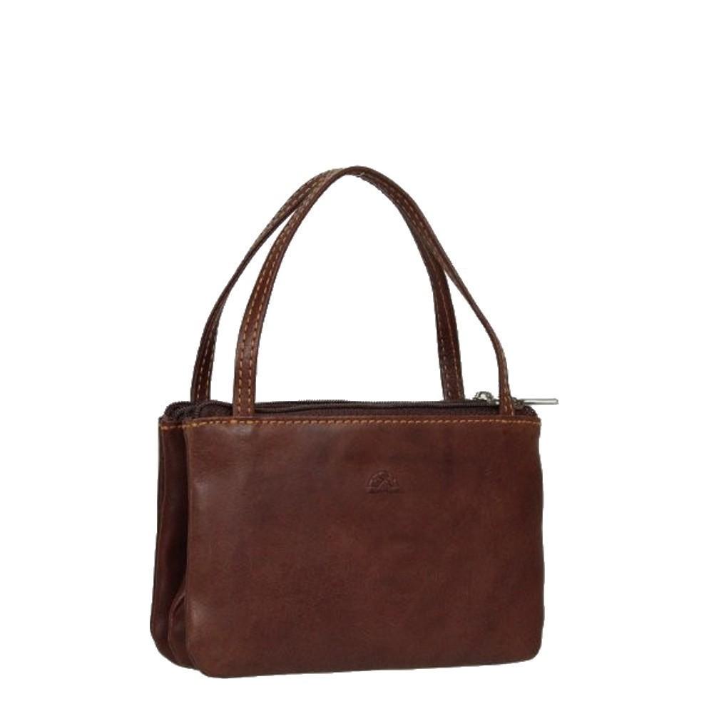 Porte monnaie femme à poignée cuir végétal fermoir vintage Tony Perotti Tony PEROTTI - 1
