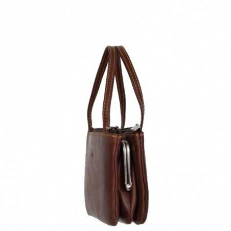 Porte monnaie mini sac cuir fermoir vintage Tony Perotti Tony PEROTTI - 3