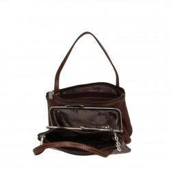 Porte monnaie femme à poignée cuir végétal fermoir vintage Tony Perotti Tony PEROTTI - 2