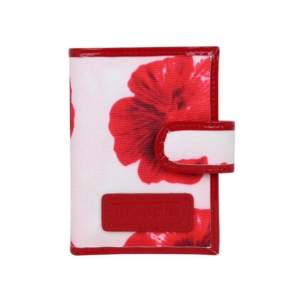 Petit porte cartes femme fermeture toile imprimé fleurs Arthur et Aston 1226-654 ARTHUR & ASTON - 1