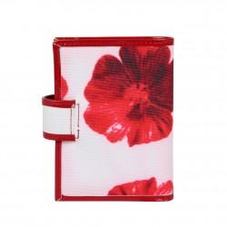 Petit porte cartes femme fermeture toile imprimé fleurs Arthur et Aston 1226-654 ARTHUR & ASTON - 4