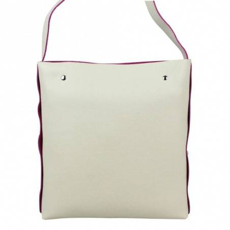 Petit sac bandoulière plat cuir Texier motifs ethnique imprimés 21001i Made in France TEXIER - 2
