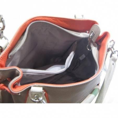 Sac à main cuir de marque Lancaster multicouleur forme cabas 547-03 LANCASTER - 4