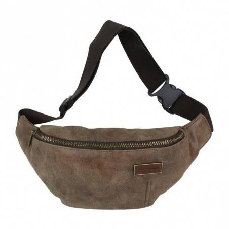 Pochette forme poire à porter devant noir ou gris de marque Serge blanco ost11006 SERGE BLANCO - 1