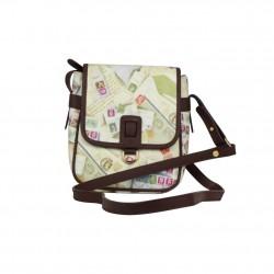 Petit sac bandoulière femme impression enveloppes et timbres Post Box A DÉCOUVRIR ! - 1