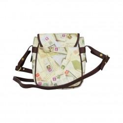Petit sac motif impression enveloppes / timbres Post Box A DÉCOUVRIR ! - 3