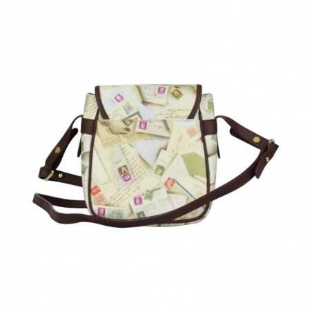 Petit sac bandoulière femme impression enveloppes et timbres Post Box A DÉCOUVRIR ! - 3