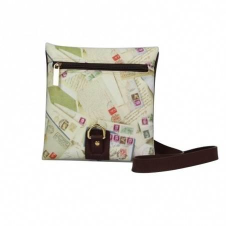 Sac bandoulière enveloppe motif impression timbres Post Box A DÉCOUVRIR ! - 1
