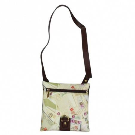 Sac bandoulière enveloppe  femme impression enveloppes et timbres Post Box A DÉCOUVRIR ! - 2