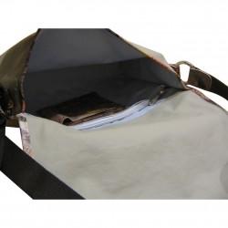 Sac gibecière de femme en bandoulière avec un grand rabat de marque texier 19305 TEXIER - 4