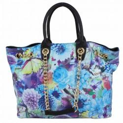 Sac à main motif effet verni floral et papillons SP0271 A DÉCOUVRIR ! - 9