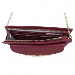 Petit sac bandoulière chaîne cuir Lancaster 172-10 LANCASTER - 4