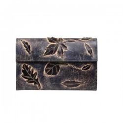 Porte monnaie femme cuir aspect vieillie 4976 A DÉCOUVRIR ! - 1
