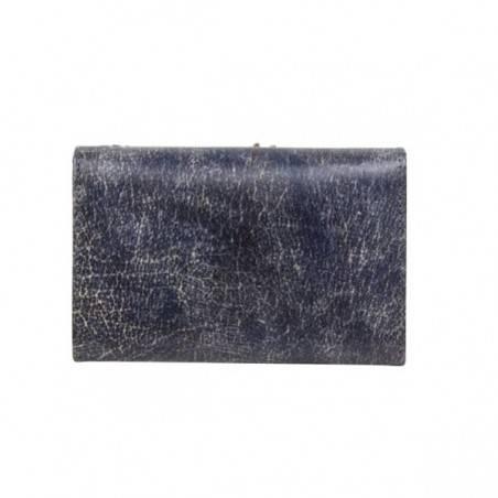 Porte monnaie femme décor feuille cuir aspect vieilli 4976 A DÉCOUVRIR ! - 4