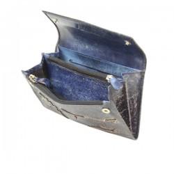 Porte monnaie femme décor feuille cuir aspect vieilli 4976 A DÉCOUVRIR ! - 2