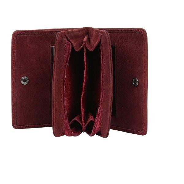 porte monnaie porte papier de marque fuchsia cuir effet vieillie f9308 6. Black Bedroom Furniture Sets. Home Design Ideas