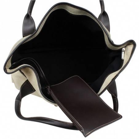 Grand sac cabas toile Texier fabriquée en France 5425 TEXIER - 4