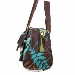 Petit sac baguette demi-rond motif fleurs Roxy XRWBA ROXY - 2