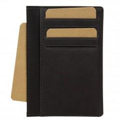 Petit porte cartes cuir ultra plat Jean Louis Fourès X15 sécurisé Anti RFID Fabrication Française SAFARI - 3