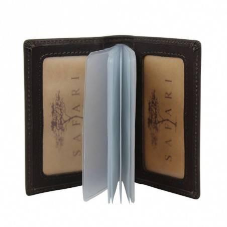 Petit porte cartes cuir brut Safari Vintage SAFARI - 1