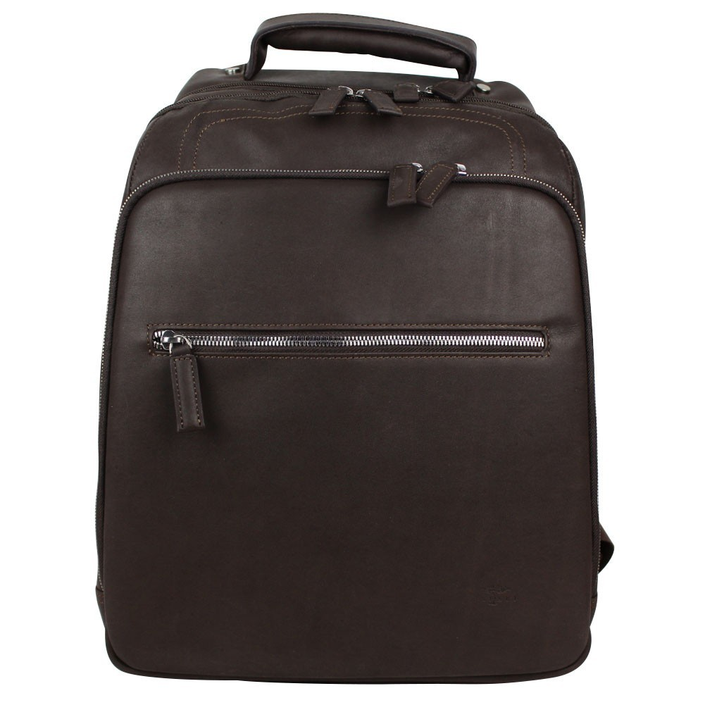 Sac à dos Eastpak ek811 noir et marron wyoming 008 black  SAFARI - 1