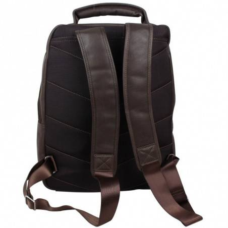 Sac à dos Eastpak ek811 noir et marron wyoming 008 black  SAFARI - 2