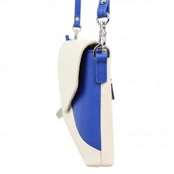 Porte monnaie tout en un femme style perforé Fuchsia F9582-3 FUCHSIA - 2