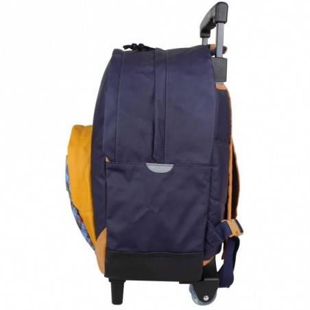 Grand trolley sac à dos à roues L Tann's Les Bons Enfants Tartan 73216