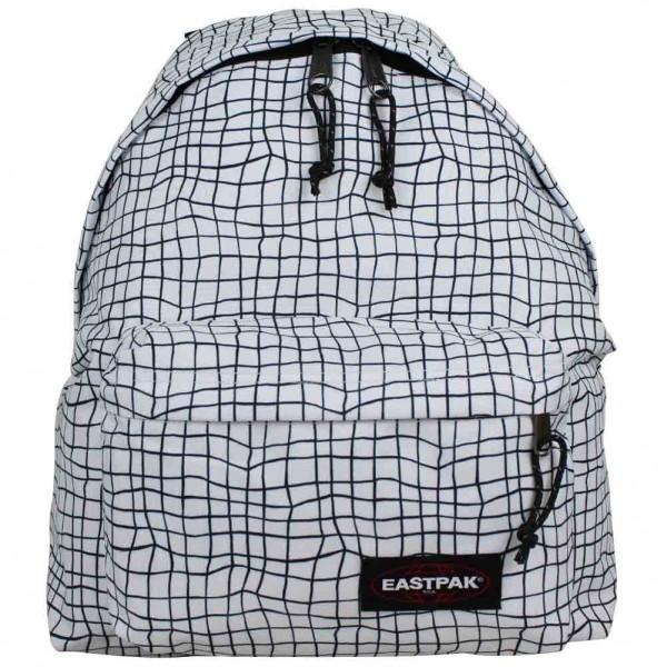 sac dos eastpak motif imprim blanc et noir ek620 padded pak 39 r 68q white dance. Black Bedroom Furniture Sets. Home Design Ideas