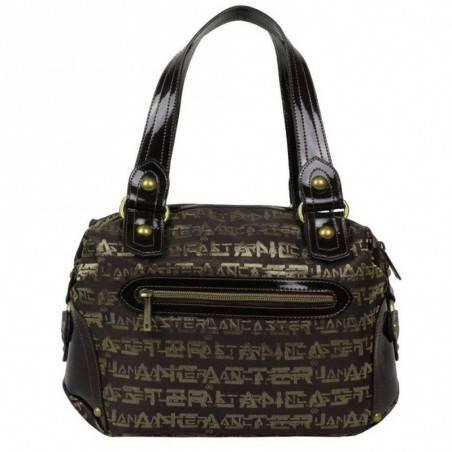 Sac épaule femme bowling marron écriture dorée Lancaster 508-194 LANCASTER - 2
